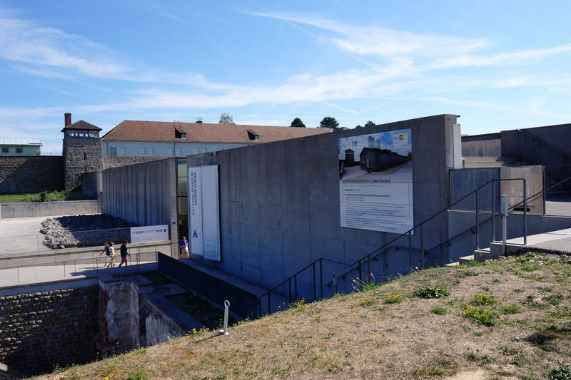 The modern Visitors Center