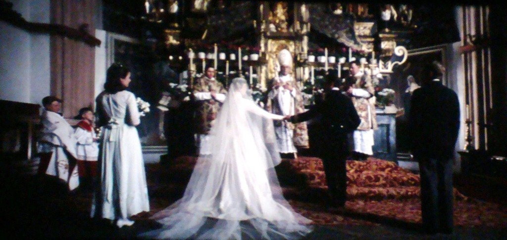 Maria and Captain von Trapp at the high altar