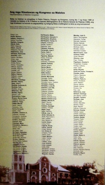 List of the names of all the representatives who joined the Congress
