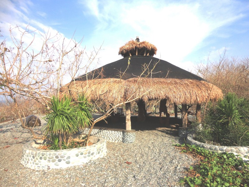 Native-style gazebo