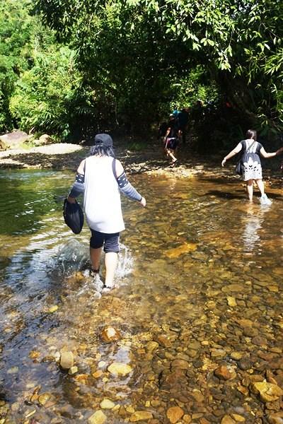 One of five river crossings