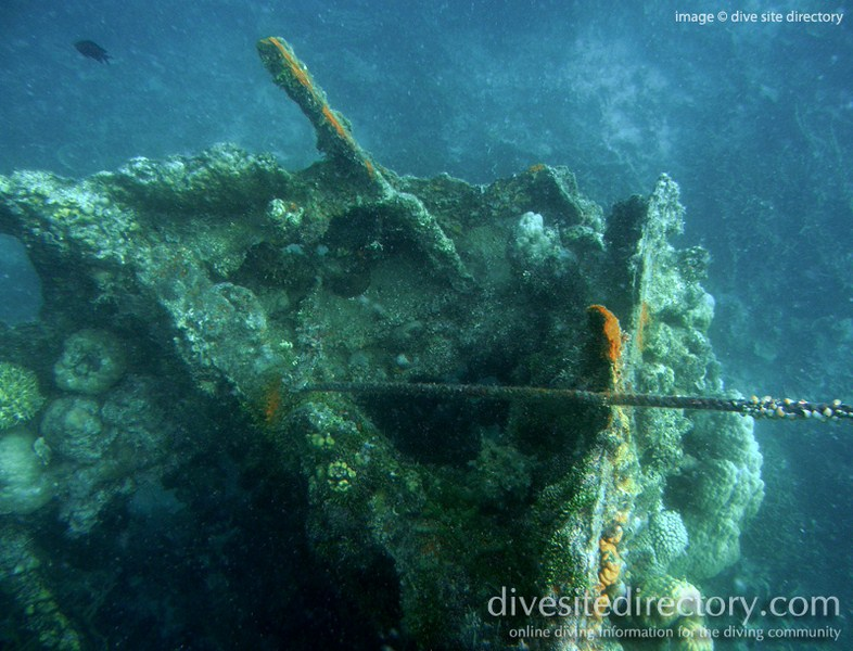 Bow of Skeleton Wreck (photo Christian Lucas Sangoyo of www.divesitedirectory.co.uk)