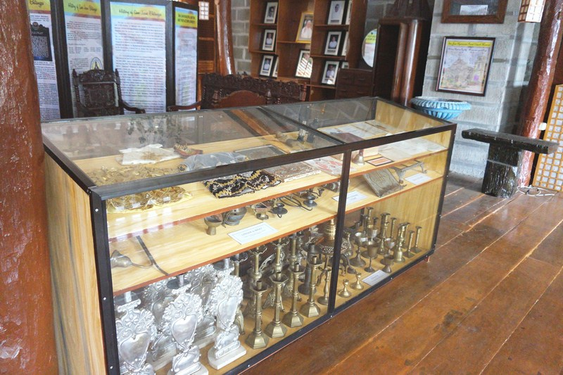 Collection of old church artifacts