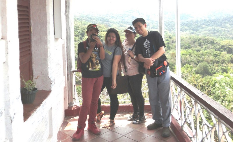 Albert, Almira, Melissa an Jandy at the veranda of main pavilion