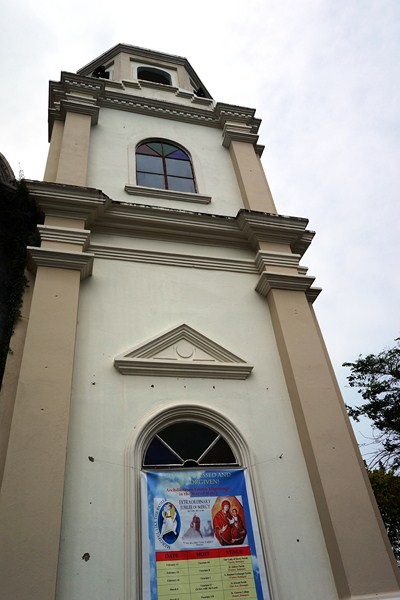 The church's bell tower