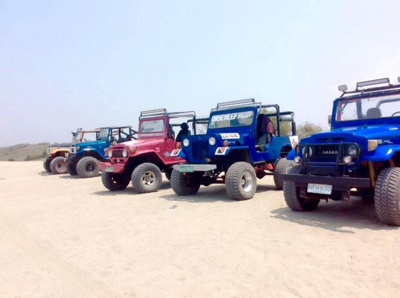 Some of Onse Reef's 4 x 4s