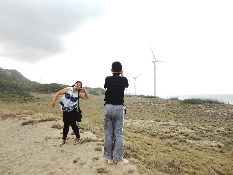 The windmills as a backrop for photo shoots