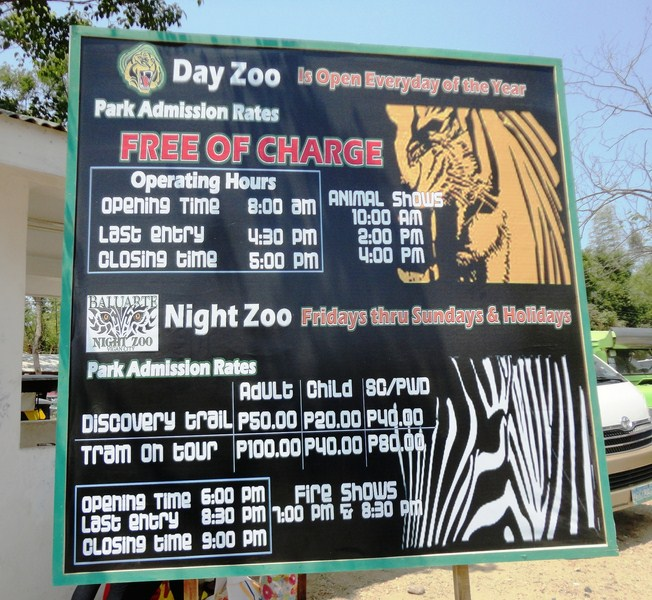 Zoo rates