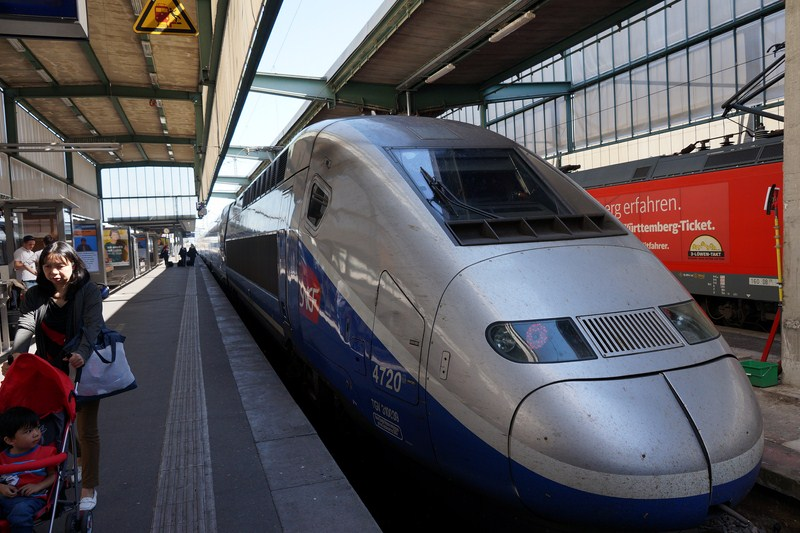 The high-speed TGV (Train à Grande Vitesse) train