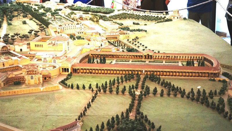 1950s plastic model of Hadrian's Villa