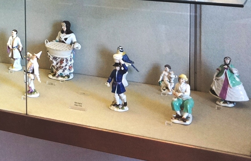 A series of small porcelain statues taken from the Commedia dell'Arte