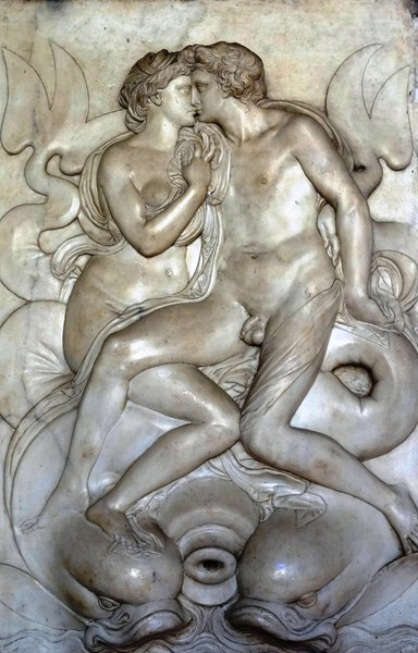 Alpheus and Arethusa, a 16th century relief