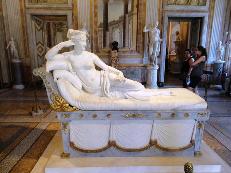 Antonio Canova's Venere vincitrice (Victorious Venus or Venus Victrix, 1805–08), a daring depiction of Paolina Bonaparte Borghese, Napoleon's sister