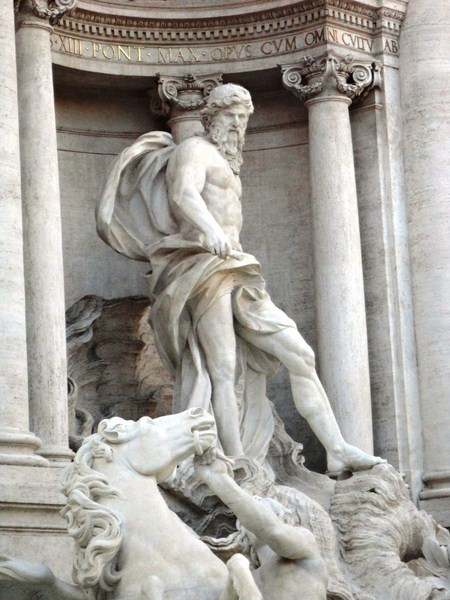 Oceanus riding a shell-shaped chariot