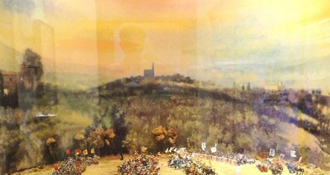 Plastic model representing the historic Battle of Campaldino