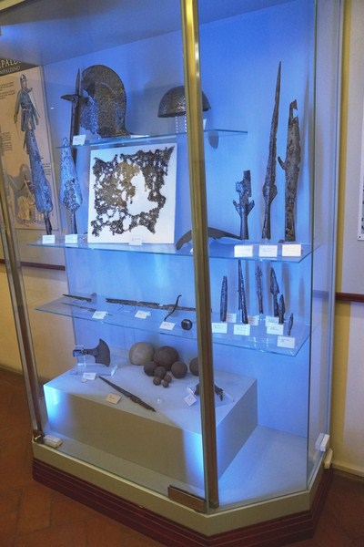 Reproductions of the weapons used at the time