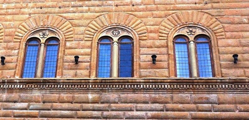 The paired mullioned windows