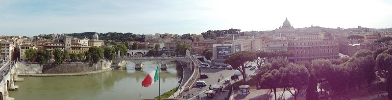 View of Rome from terrace