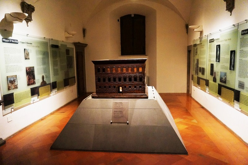 Wooden model of the Palazzo Strozzi