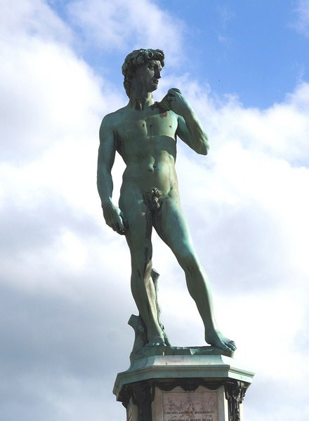 Bronze copy of Michelangelo's David (15)