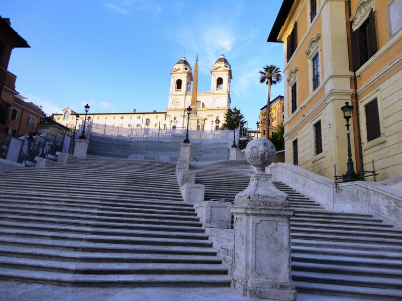 The monumental Spanish Steps