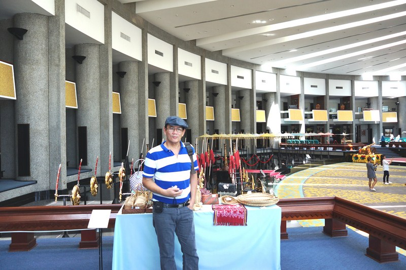 The author at the Royal Regalia Exhibition Hall
