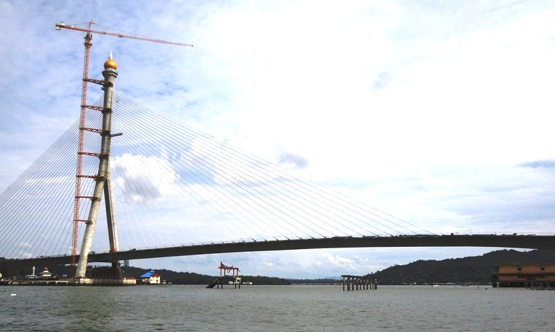 The unfinished Temburong Bridge