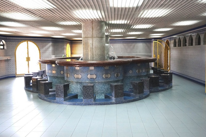 The wudhu (ablution hall)