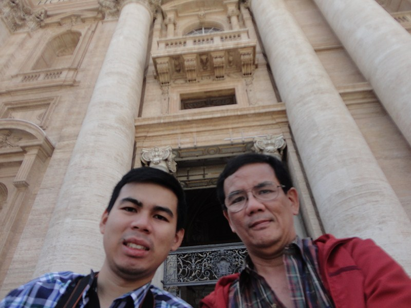 Jandy and the author at St. Peter's Basilica