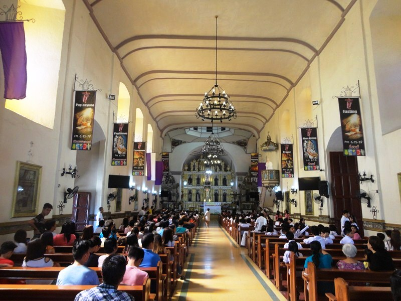 The church's interior