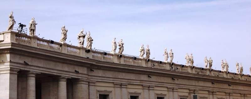 Statues above the collonade